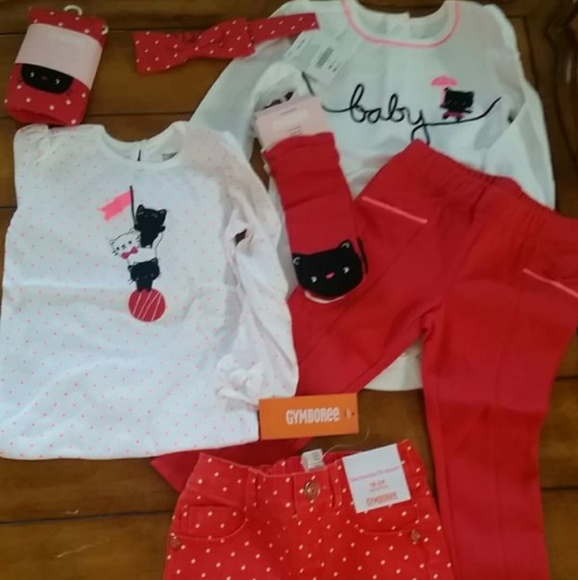 NWT Gymboree HOLIDAY SHOP Girls Sz 12 18 24 Months Penguin Top /& Pants 2-PC SET